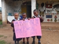 kids with sign