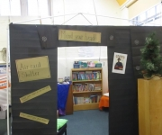 Year 6's Air raid shelter - book corner for World War 2