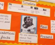 Year 1 studying Space and identifying famous people